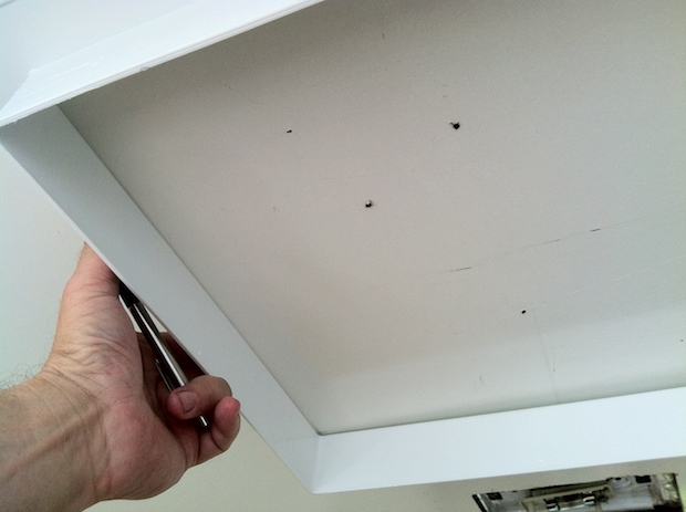 mark the ceiling for roof vent