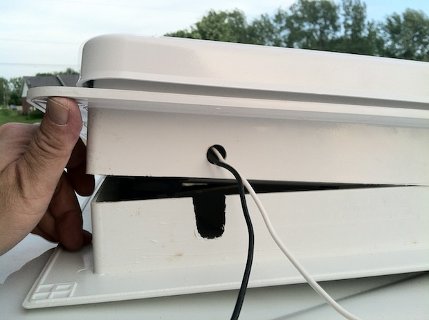 interior garnish notched for wiring