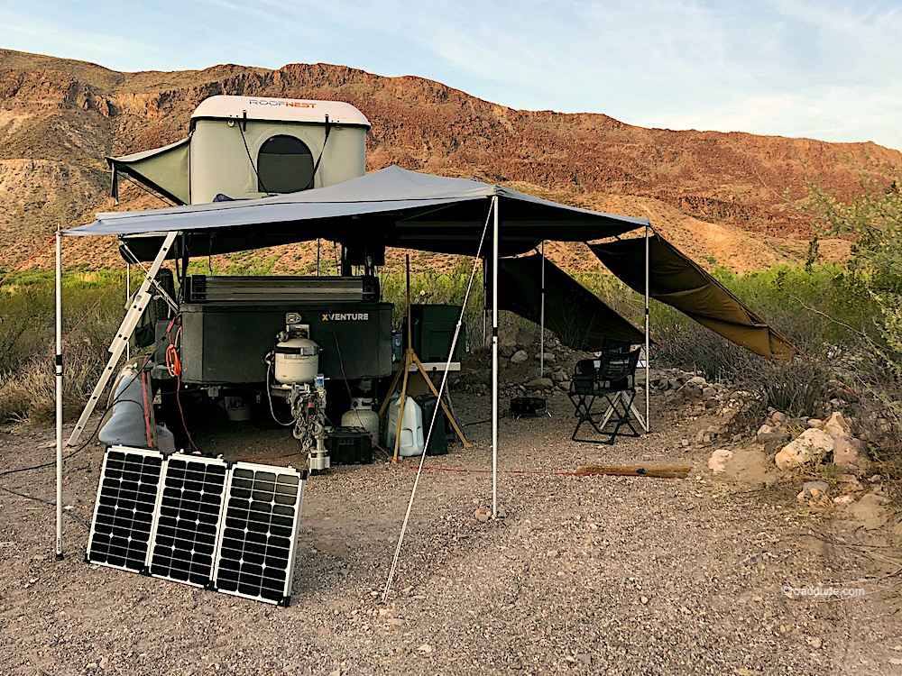 Basecamp in the Chihuahuan Desert