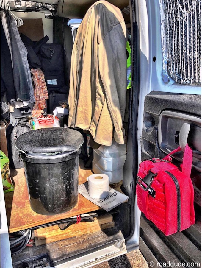 Composting toilet for vanlife and camping