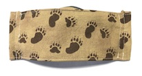 Face mask in brown with Bear Paws print