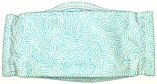 Roaddude Premium Face Mask with stylized Blue Waves print
