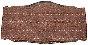 Roaddude Premium Face Mask with tiny yellow dots on brown pattern