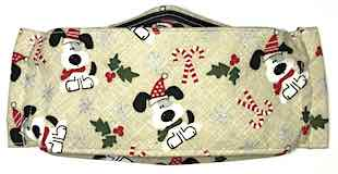 Roaddude Premium Face Mask with Snoopy-like pups in Santa hat