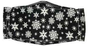 Roaddude Premium Face Mask with Snowflakes on Black