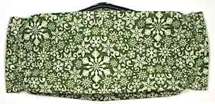 Roaddude Premium Face Mask with Snowflakes on Green