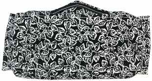 Roaddude Premium Face Mask with B&W Leaves print