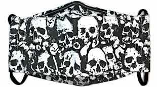 Roaddude Premium Face Mask with B&W Skulls print