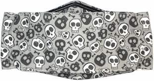 Roaddude Premium Face Mask with Cartoon Skulls print