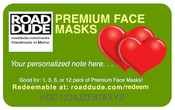 eGift Cards from Roaddude Premium Face Masks