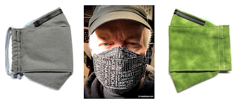 ROADDUDE Premium Face Masks Made in Maine are 3D, KF94-style, come in 4 sizes, have 3 layers of differently-woven fabric, filter pocket, moldable nose bridge, and adjustable ear loops. Wash & Dry. Shipped Nationwide. Available CURBSIDE in Portland.
